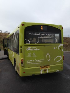 Logos on Translink bus